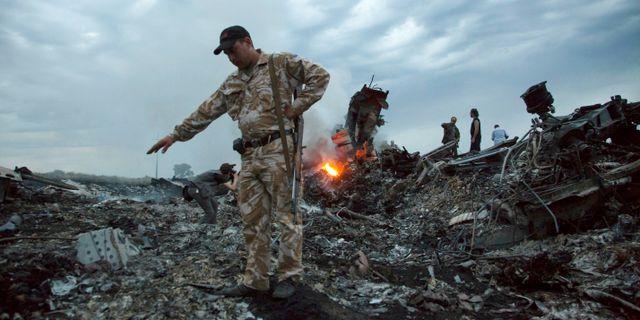 Bråte efter MH17. Arkivfoto. Dmitry Lovetsky / TT NYHETSBYRÅN