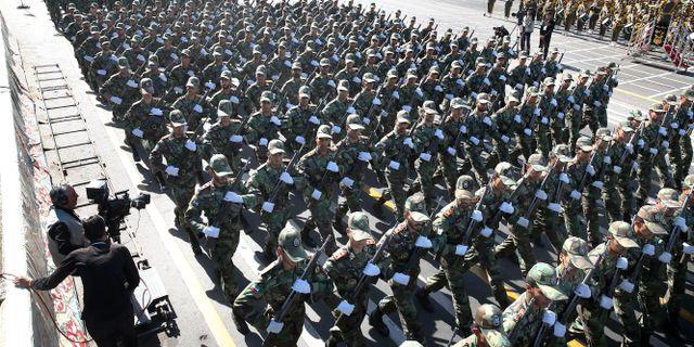 Arkivbild från militärparad i Iran i september 2018.  Ebrahim Noroozi / TT NYHETSBYRÅN