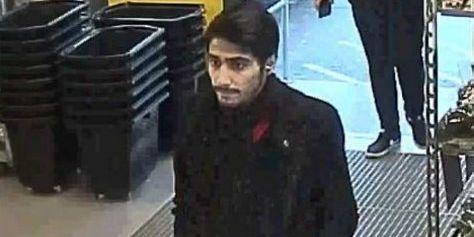 Tishko Ahmed på övervakningsbild från förundersökningen om mordet. POLISEN/TT / TT NYHETSBYRÅN
