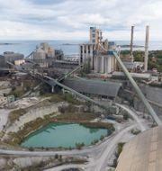 Cementas cementfabrik och kalkbrott i Slite på Gotland Fredrik Sandberg/TT / TT NYHETSBYRÅN