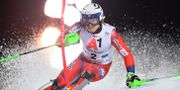 Henrik Kristoffersen. JOE KLAMAR / AFP