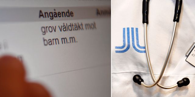 Bild från förhandlingarna i Stockholms tingsrätt / Arkivbild.  TT
