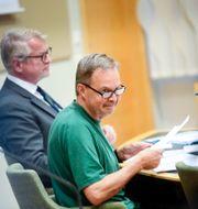 Karl Hedin vid häktningsförhandlingen i höstas, arkivbild. Fredrik Sandberg/TT / TT NYHETSBYRÅN