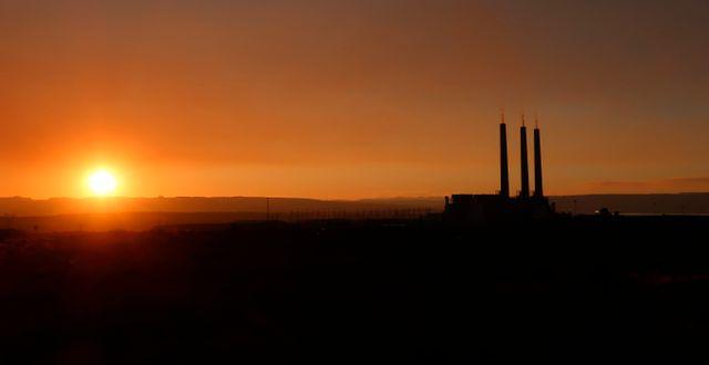 Kolkraftverket Navajo Generating Station i Arizona, som lades ner den 18 december 2020. Felicia Fonseca / TT NYHETSBYRÅN
