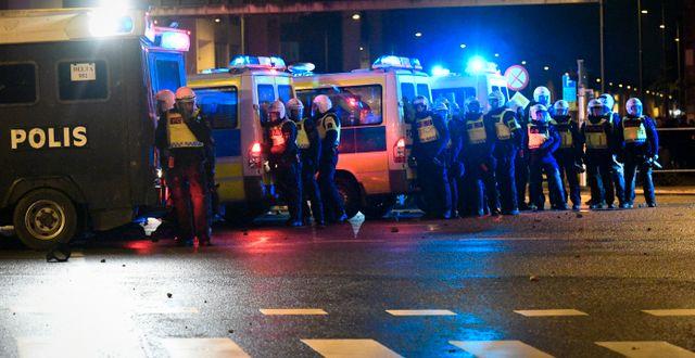 Bild från upploppen. TT / TT NYHETSBYRÅN
