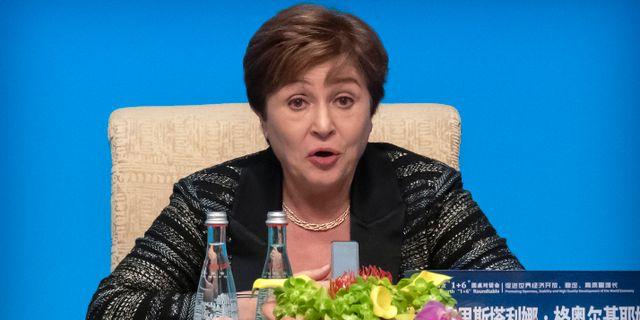 Kristalina Georgieva Mark Schiefelbein / TT NYHETSBYRÅN