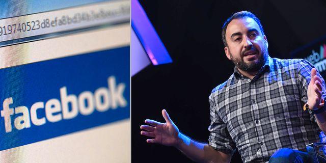 Arkivbilder: Facebook och avgående säkerhetschefen Alex Stamos. TT/Wikimedia