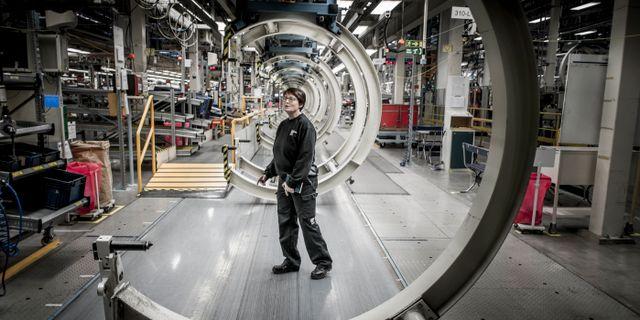 Insidan på Saab-fabriken, numera Nevs. Arkivbild. Magnus Hjalmarson Neideman / SvD / TT / TT NYHETSBYRÅN