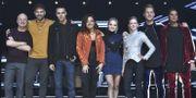Samtliga deltagare i Melodifestivalens andra deltävling vid torsdagens repetitionen i Scandinavium.  Claudio Bresciani/TT / TT NYHETSBYRÅN