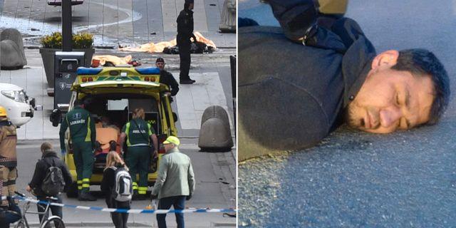 Drottninggatan den 7 april 2017/Rakhmat Akilov grips timmar senare. TT