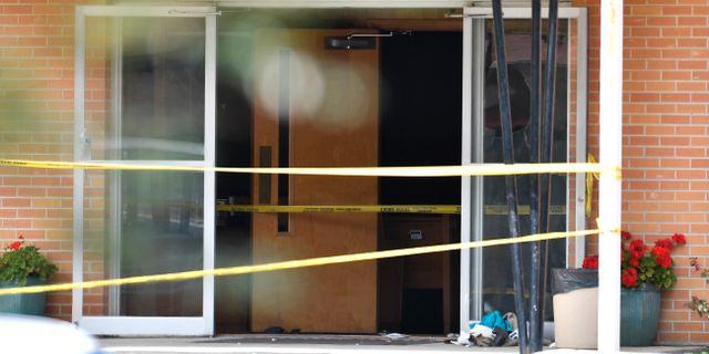 Skjutningen inträffade i kyrkan Burnette Chapel utanför Nashville i USA.  Andrew Nelles / TT / NTB Scanpix