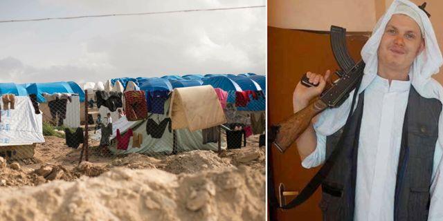 Al-hol-lägret i Syrien/Michael Skråmo. TT/Privat