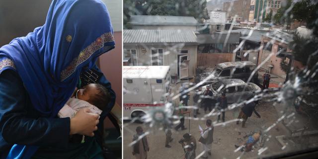 Kvinna ammar barn som blivit moderlöst i attack/Mödravårdsklinik som blivit attackerad.  TT