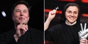 Elon Musk och Cristina Scuccia. Arkivbilder. TT
