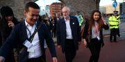 Jeremy Corbyn, Labours partiledare (mitten). HANNAH MCKAY / TT NYHETSBYRÅN
