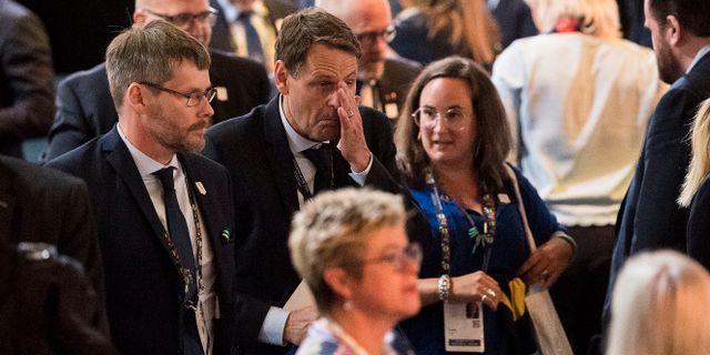 Kampanjchefen Richard Brisius (mitten) JOEL MARKLUND / BILDBYRÅN