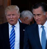 Donald Trump och Mitt Romney. MIKE SEGAR / TT NYHETSBYRÅN