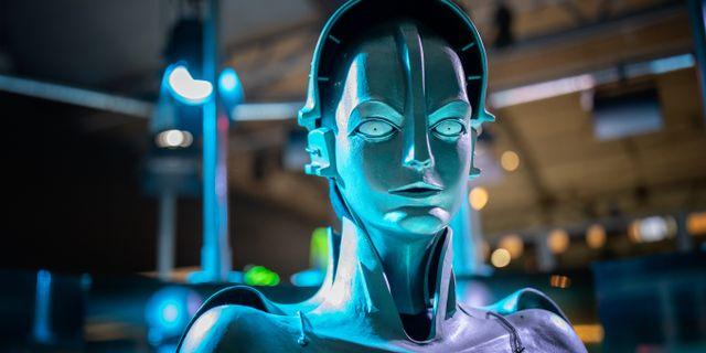 """Maria, skapad för Fritz Langs film """"Metropolis"""" 1927 var den första roboten som blev filmstjärna. Adam Wrafterl/SvD/TT"""