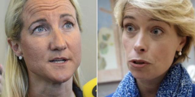 Cecilia Widegren (M) och Annika Strandhäll (S) TT