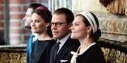 Kronprinsessan Victoria, prins Daniel, prinsessan Sofia och prins Carl Philip.  Jonas Ekströmer/TT / TT NYHETSBYRÅN