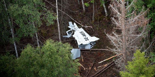 Nio personer dog i flygolyckan. Erik Abel/TT / TT NYHETSBYRÅN