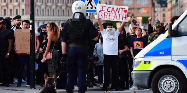 Demonstration.  Jonas Ekströmer/TT NYHETSBYRÅN / TT NYHETSBYRÅN