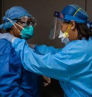 Sjukvårdsarbetare i Chicago. Arkivbild. Ashlee Rezin Garcia / TT NYHETSBYRÅN