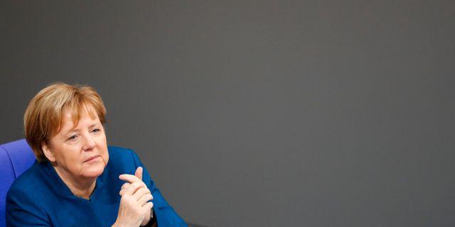 Angela Merkel FABRIZIO BENSCH / TT NYHETSBYRÅN