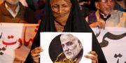 Iranier sörjer toppgeneralens död. ikram Suri / TT NYHETSBYRÅN