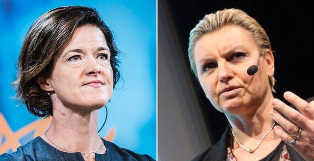 Anna Kinberg Batra och Maria Abrahamsson.  TT
