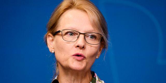Migrationsminister Heléne Fritzon (S). Erik Simander/TT / TT NYHETSBYRÅN