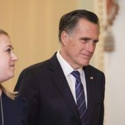 Republikanske senatorn Mitt Romney. Samuel Corum / GETTY IMAGES NORTH AMERICA