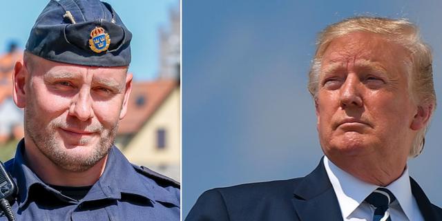 Viktor Adolphsons konto stängdes ned efter svaret till Trump. Wikimedia Commons/AFP