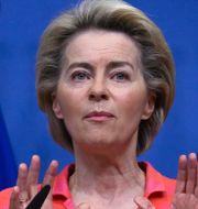 Ursula von der Leyen, EU-kommissionens ordförande.  Yves Herman / TT NYHETSBYRÅN
