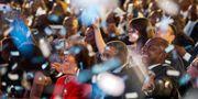 President Cyril Ramaphosas parti firar segern. Jerome Delay / TT NYHETSBYRÅN/ NTB Scanpix