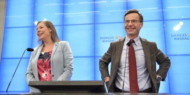 Ulf Kristersson och Maria Malmer Stenergard Jessica Gow/TT / TT NYHETSBYRÅN