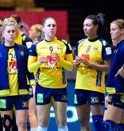 Sveriges Jessica Ryde, Melissa Petren och Jamina Roberts Bo Amstrup / TT NYHETSBYRÅN