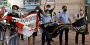 Demokratiförespråkare protesterar i Hongkong. Kin Cheung / TT NYHETSBYRÅN
