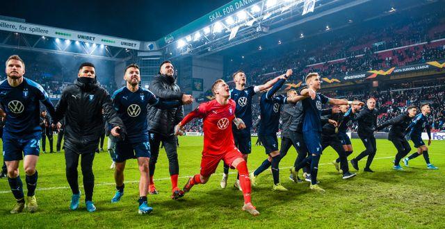 Jubel efter matchen. PETTER ARVIDSON / BILDBYRÅN