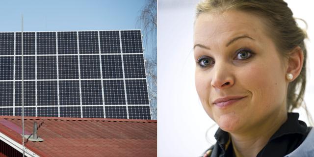 KD-politikern Ella Bohlin vill inte ha riktade statsbidrag som går till exempelvis solceller. TT
