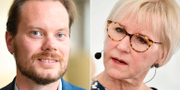 Martin Kinnunen och Margot Wallström. TT