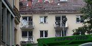Ett av de bombskadade husen i Linköping. Jeppe Gustafsson/TT / TT NYHETSBYRÅN