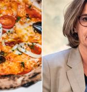En pizza/Isabella Lövin (MP). TT
