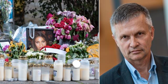 Platsen där Karolin Hakim sköts ihjäl. Till höger: Pär Andersson.  TT