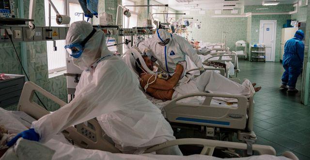 Sjukhus i Ryssland. DIMITAR DILKOFF / TT NYHETSBYRÅN