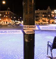 Skjutning under söndagskvällen vid Möllevångstorget i centrala Malmö. Emil Langvad/TT / TT NYHETSBYRÅN