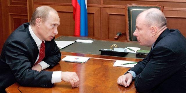 Putin och Potanin. ITAR-TASS / TT NYHETSBYRÅN