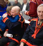 Bild från när Girjas sameby vann den mångåriga tvisten mot staten, 23 januari. Anders Wiklund/TT / TT NYHETSBYRÅN