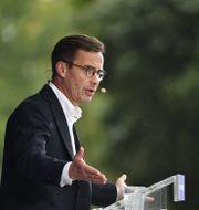 Moderaternas partiledare Ulf Kristersson talade i Strängnäs under söndagen.  Henrik Montgomery/TT / TT NYHETSBYRÅN