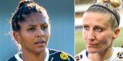Piteås Madelen Janogy och Rosengårds Anja Mittag. TT